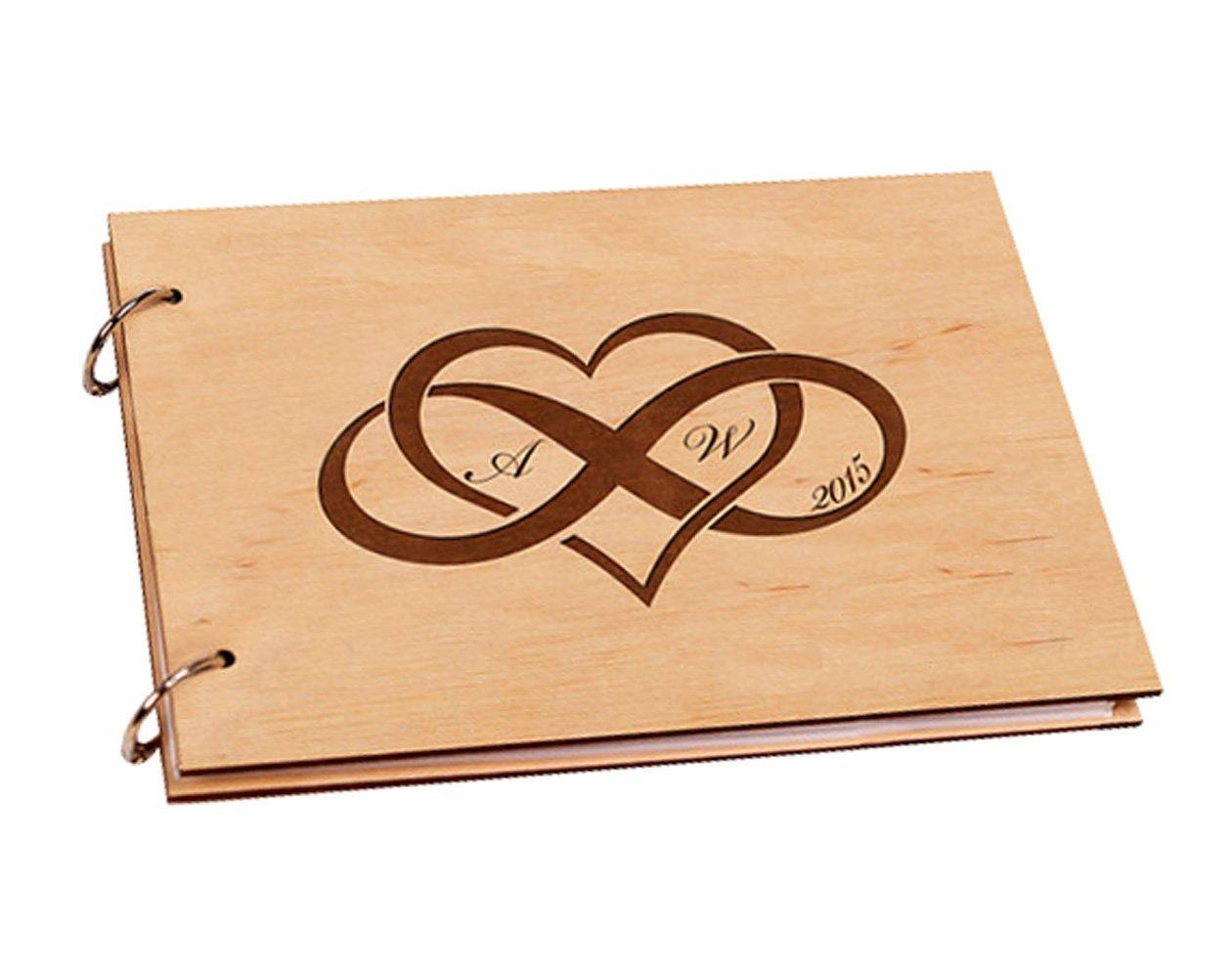 Inciso amore infinito personalizzato iniziale regali di anniversario di matrimonio Scrap Book album per foto 20, 3x 30, 5cm jennydeki