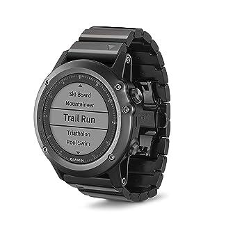 b0bf602e7f30 Garmin Fēnix 3 Zafiro - Reloj Multideporte con GPS y Correa metálica ...