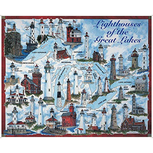 Heritage Lighthouses of The Great Lakes Jigsaw Puzzle - 1000 Pieces (Michigan City Lighthouse)
