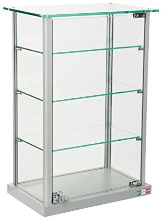 Amazon.com: Small Curio Cabinet, Free Standing Glass Display Shelf ...