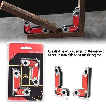 Welding Magnet 2pcs Inside//Outside Magnet Welding Clamp Magnetic Holder Fixer Welder Soldering Tools 30//60//90 Degree 8.5x5.5cm