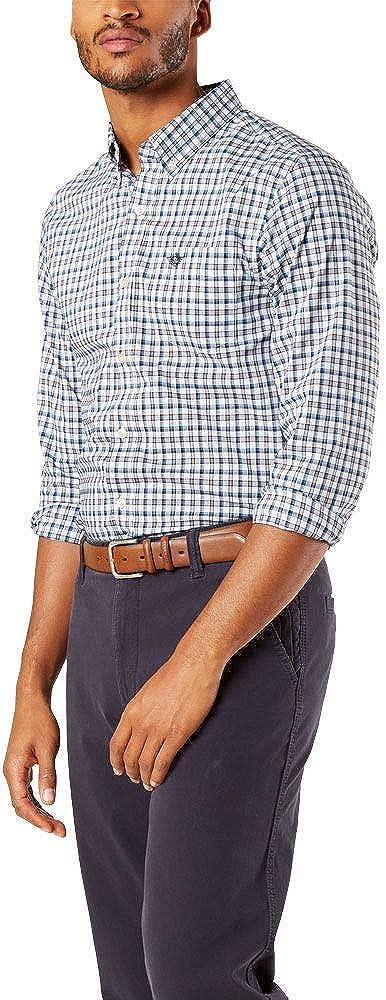 Dockers - Camisa de manga larga para hombre
