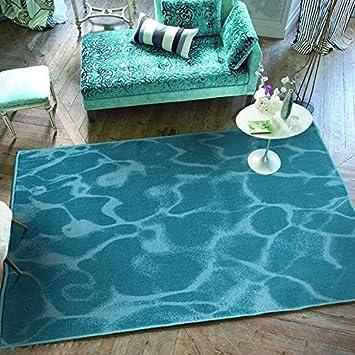 Ustide Carpet Living Room Ocean Blue Area Rug Solid Area Carpet Modern  Style 4x6
