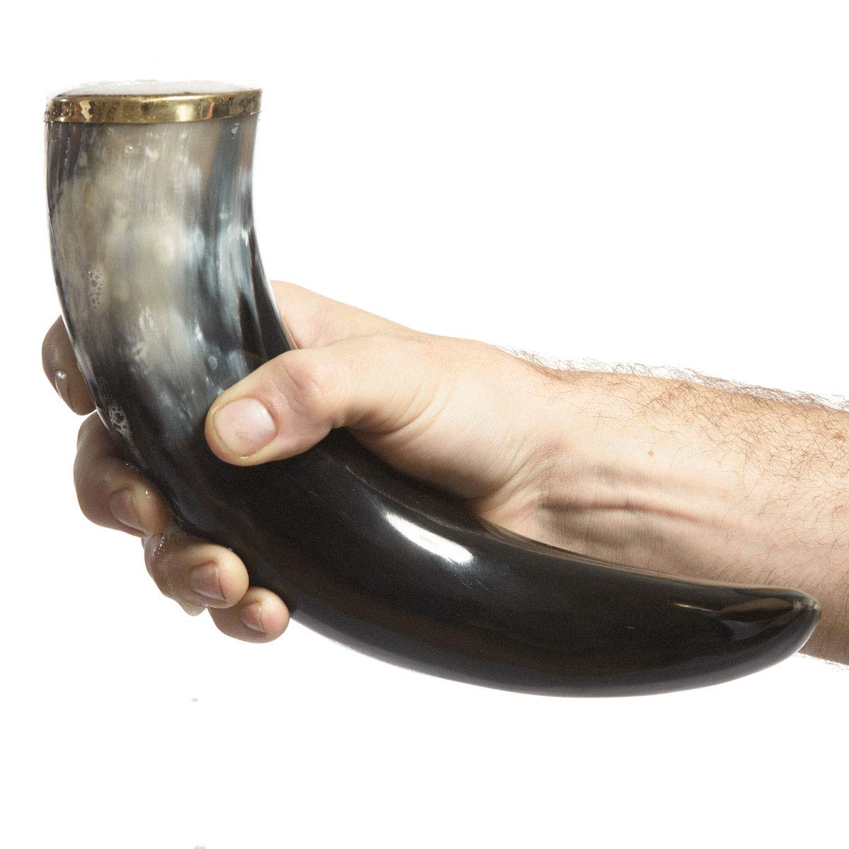 AleHorn – The Original Handcrafted Authentic Viking Drinking Horn for Beer, Mead, Ale – Medieval Inspired – Food Safe Vessel - Curved Style with Stand (20'' 4PK, Polished Horn) by AleHorn (Image #4)