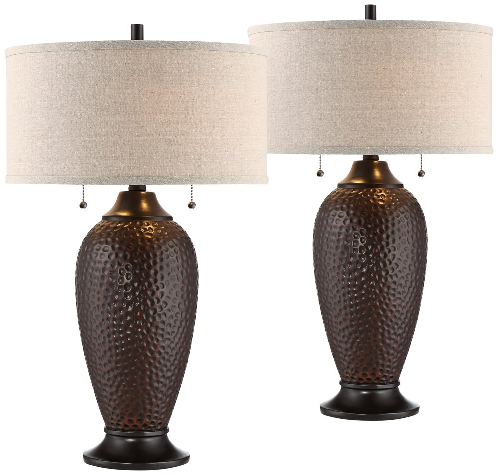 Cody Oiled Bronze Table Lamp Set of 2 by 360 Lighting