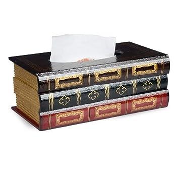 XIU Decoración casera Cajas de Tejido Antiguas Antiguas de Madera Maciza Europea, Sala de Estar casera de Oficina Tabla Decorativa del Tejido: Amazon.es: ...