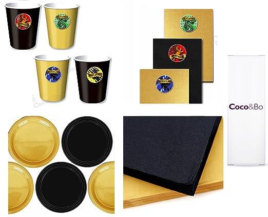 Coco & Bo - Hogwarts casas - estándar vajilla fiesta Pack ...