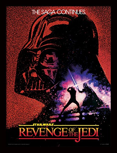 (iPosters Star Wars Revenge Of The Jedi Framed 30 x 40 Official Print - Overall Size: 36 x 46 cm (14 x 18 inches) Print Size: 30 x 40 cm)