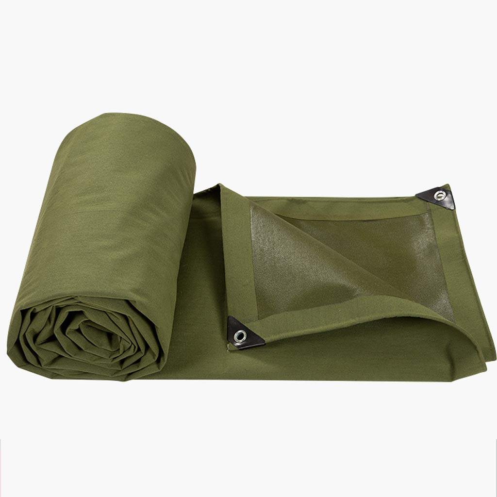 防水布、グリーンパドルタポリンキャンバス天竺布サンシェードカーターポリン B07JM3HMYV   3*4m