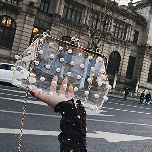 sac bandoulière 3 Mini bandoulière chaîne bandoulière à Transparent à à au ZCM couleurs Clair Sac Crossbody en choix Ax8wOqzngP