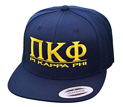 e007da1c Greekgear Pi Kappa Phi PI PHI Flatbill Snapback Hats Original Blue at  Amazon Men's Clothing store: Other Products