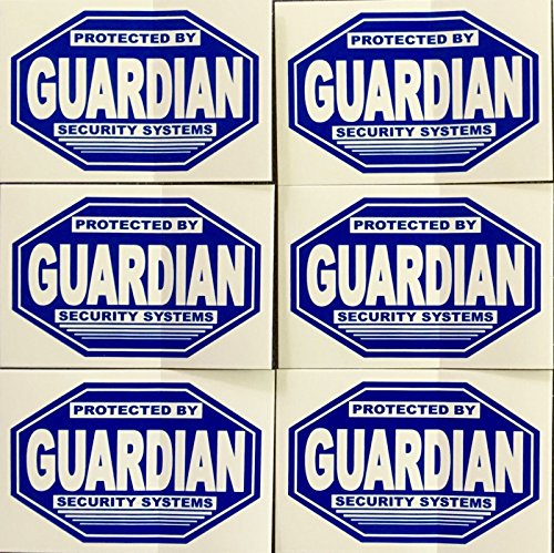 6 - GUARDIAN SECURITY....... WINDOW DECALS from GUARDIAN SECURITY