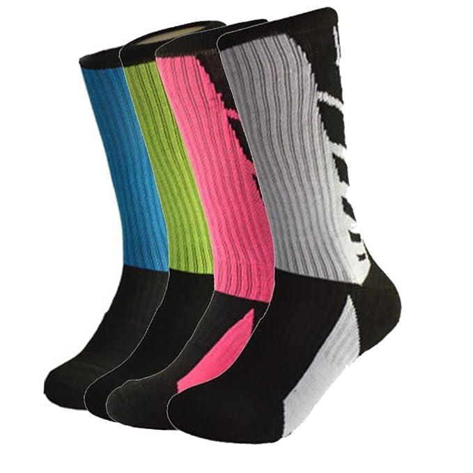 Amazon.com: Redsun calcetines de baloncesto mezclado cojín ...