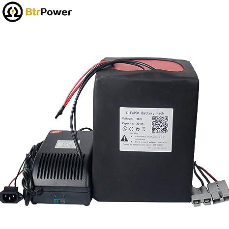 Amazon.com: BtrPower LiFeO4 - Batería de ion de litio para ...