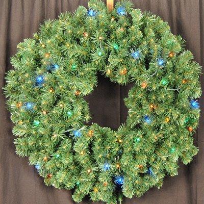 Queens of Christmas WL-GWSQ-04-L5M Pre-Lit LED Sequoia Wreath, 4', Multi-Color
