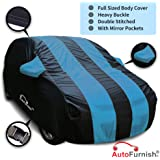Autofurnish Stylish Aqua Stripe Car Body Cover for Honda City 2017 - Arc Blue