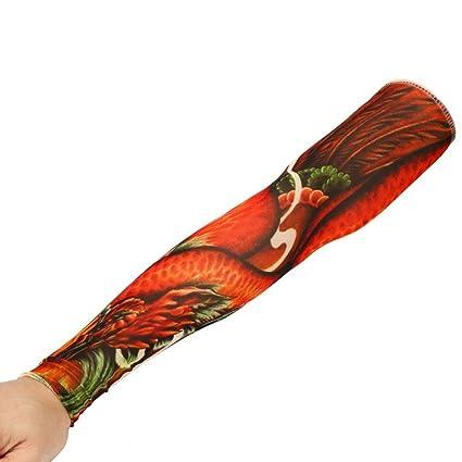 toamen Unisex manga de tatuaje inferior de brazo de vaso nuevo ...