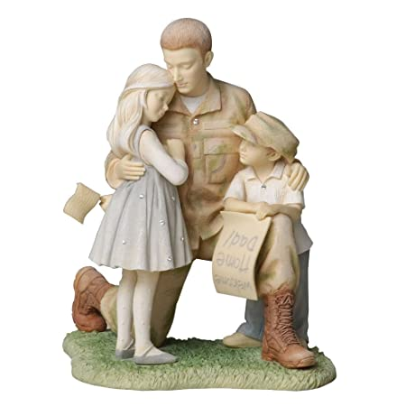 Enesco Foundations Soldier Coming Home to Family Figurine, 6.5-Inch