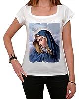 Virgin Mary T-shirt Femme,Blanc, t shirt femme,cadeau