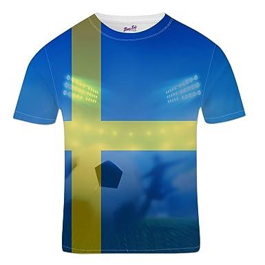 Bang Tidy Clothing Sweden Football Shirts for Men 2018 Stadium Flag T Shirt  Fans Gift S 359d2dbc5