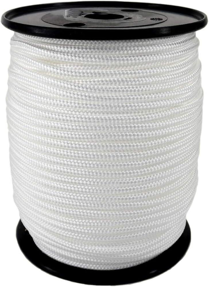 Disponible en 10 Metros 5 Metre Trimming Shop Nailon Riel Cortina Cable IN 3mm Ideal Reemplazo para Old Deslizamiento Cuerdas Negro Blanco