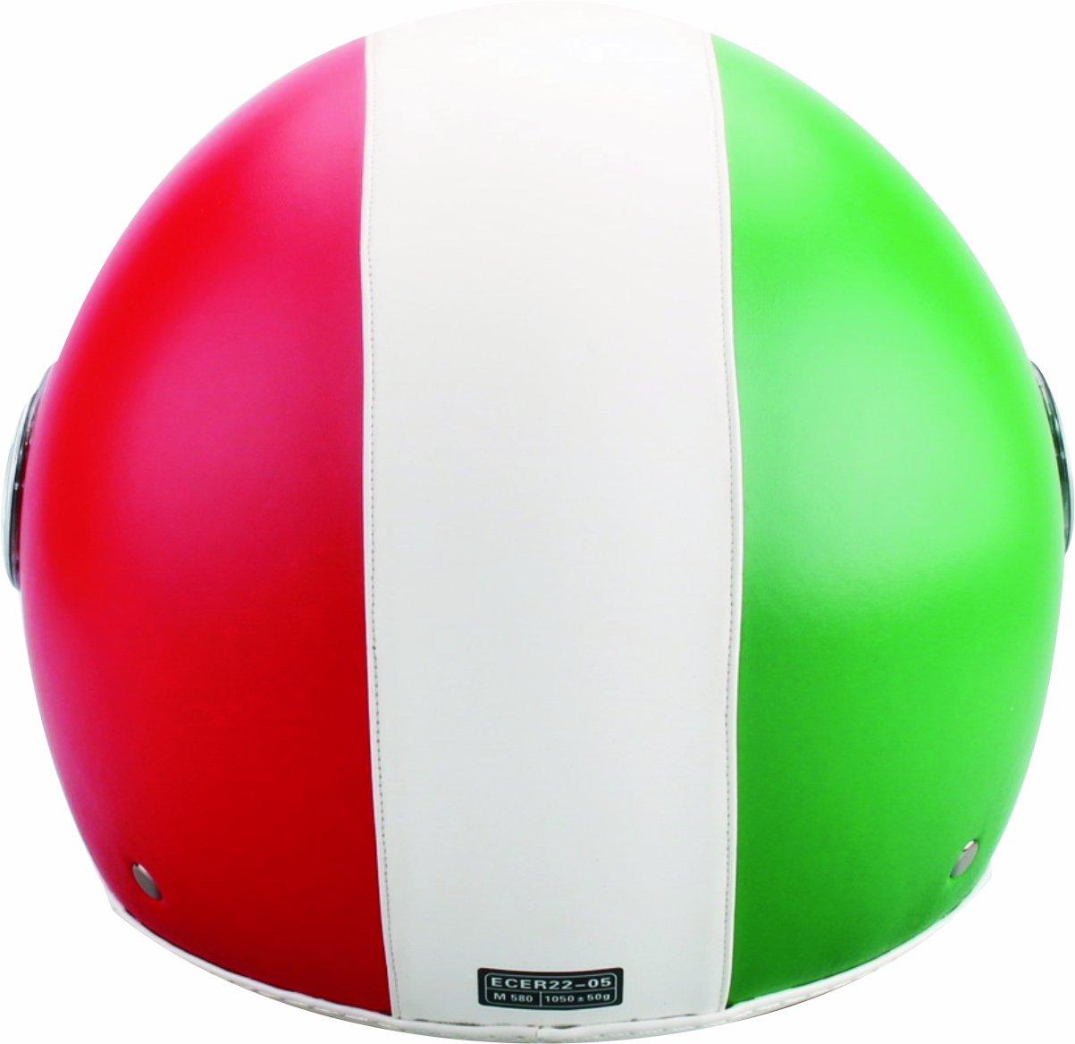 Amazon.es: BHR 50176 Demi-Jet Casco Cuero, Bandera Italia, Talla XL, 61 cm