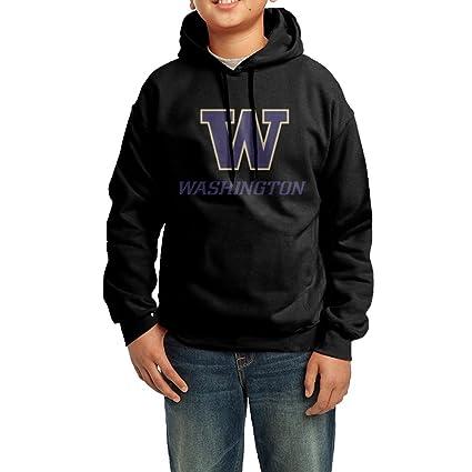 nvvw Universidad de W Logo Washington jóvenes sudadera sudaderas para hombre, XL, Negro