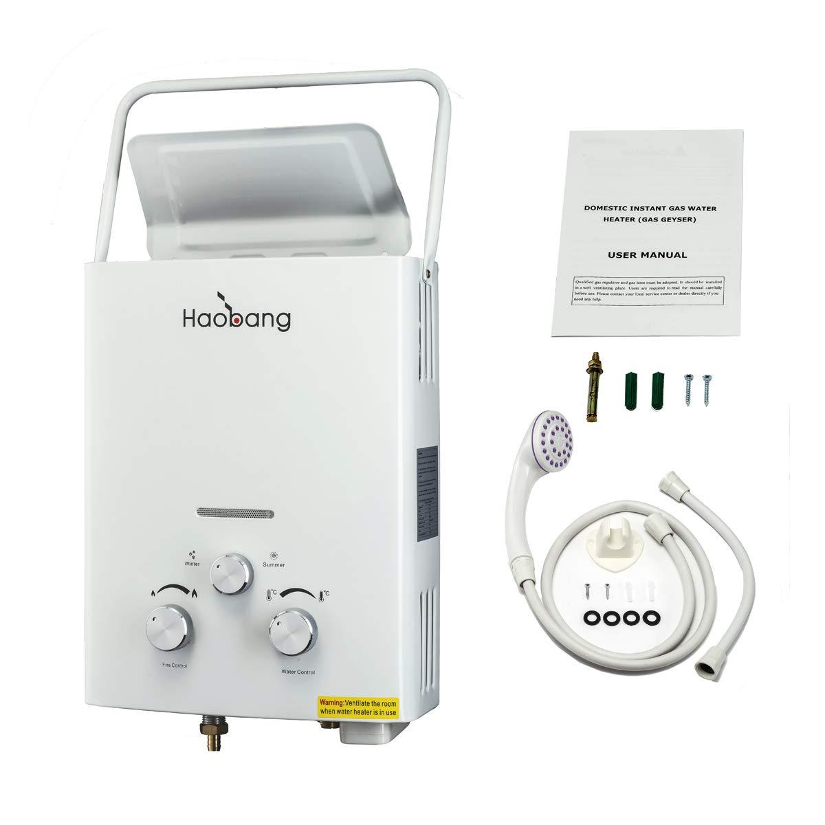 Haobang Gas tankless Warmwasserbereiter Patentierte Modulating Technologie JSD12-J6 LPG 2800Pa– Propan oder Butan HB