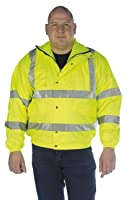 Grafters HI-VIZ Fluorescent Waterproof Bomber Jacket Yellow