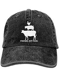 Friends, Not Food Vintage Washed Dyed Adjustable Baseball Cowboy Cap