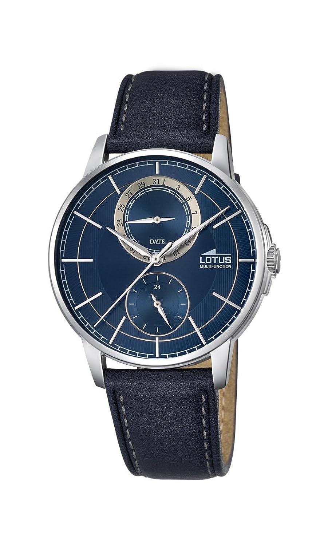 Lotus Herren-Armbanduhr Analog Quarz Leder 18323-2