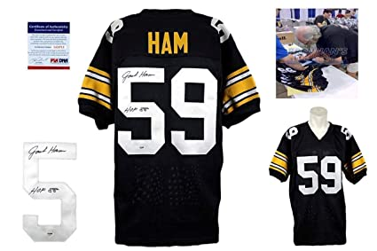 0891a2f924e Image Unavailable. Image not available for. Color  Jack Ham Autographed  Signed Jersey ...