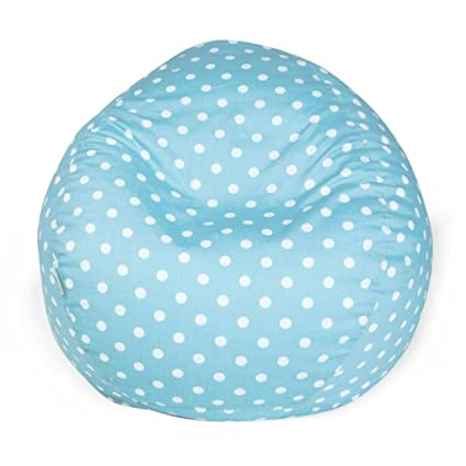 Awe Inspiring Amazon Com Aqua Blue Polka Dot Pattern Bean Bag Geometric Inzonedesignstudio Interior Chair Design Inzonedesignstudiocom