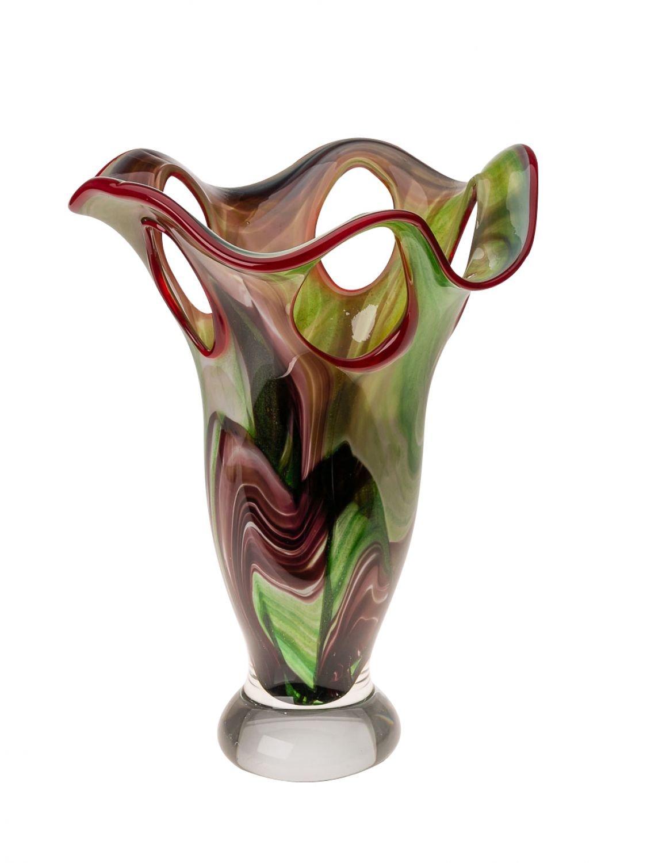 Glasvase 5kg Glas Vase im Murano Stil 40cm schwere Tischvase glass vase