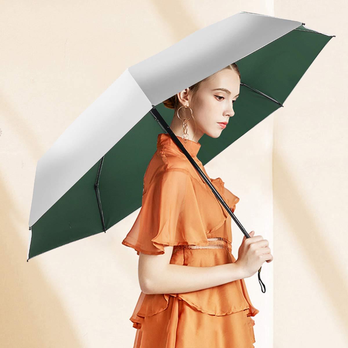 SUNEED Compact Travel Umbrella Mini UV Protection Umbrella Lightweight Mini Travel Umbrella Compact Small Folding Umbrella Rain /& Sun Portable Pocket Umbrella for Women Men Black