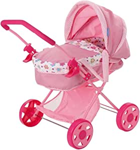 Amazon.com: Huack My First Doll Pram Pink with Carrycot ...