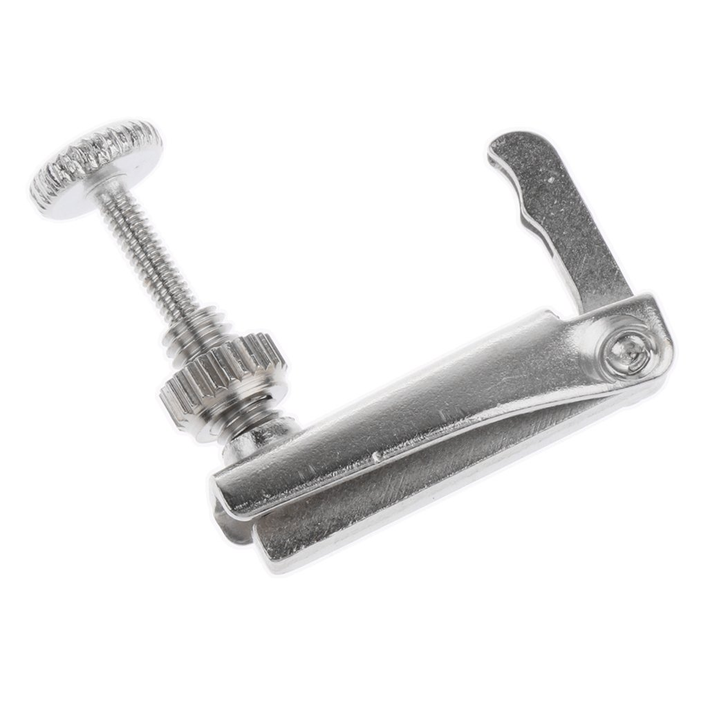 Baoblaze Metal Violin Fine Tuner Adjuster Silver for 1/4 Size Violin Fiddle Accessory