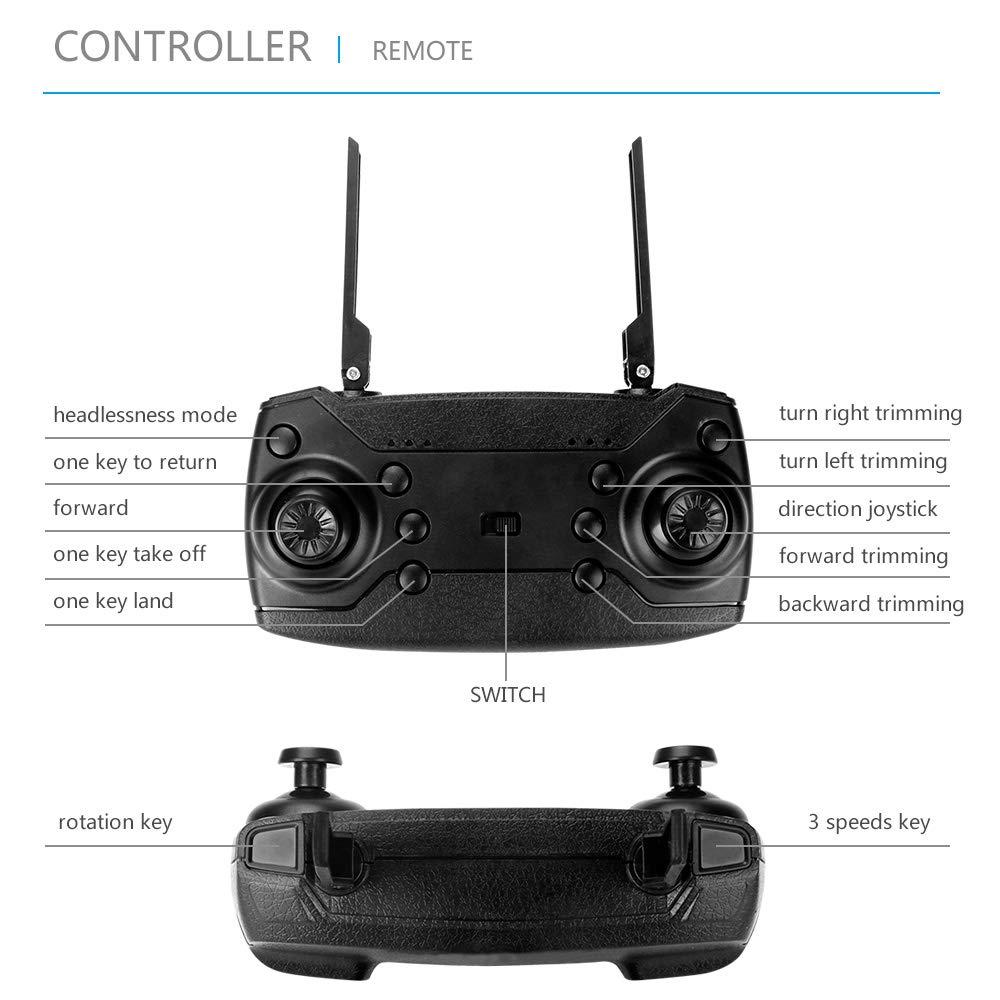 WANGKM Quadrocopter-Drohne, 720p HD WiFi-Kamera WiFi-Kamera WiFi-Kamera   Fernbedienung für Smartphone-App Follow-Me, Auto-Hover, Höhenlage, Start/Landung mit Einer Taste, bürstenlose Motoren 2a52f8