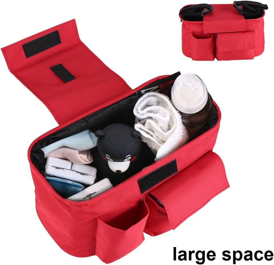 Beb/é Cochecito de almacenamiento organizador bolsa Multi bolsillo grande espacio silla bolsas de pa/ñales con correa para el hombro y 2/ganchos para cochecito llevar