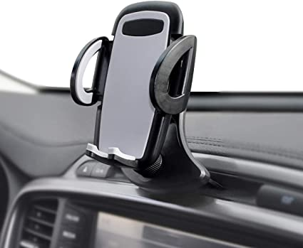 Car Mount with Three-Side Grips and One-Touch Design Compatible iPhone XS MAX//XR//XS//X//8//8Plus//7//7Plus//6s Galaxy S5//S6//S7//S8 Huawei etc PAMCM3-V Google CD Slot Car Phone Holder Mpow 051 Car Phone Mount