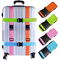 Senfhome Luggage Straps Suitcase Belts Travel Accessories Bag Straps (4Pack-Multicolor)