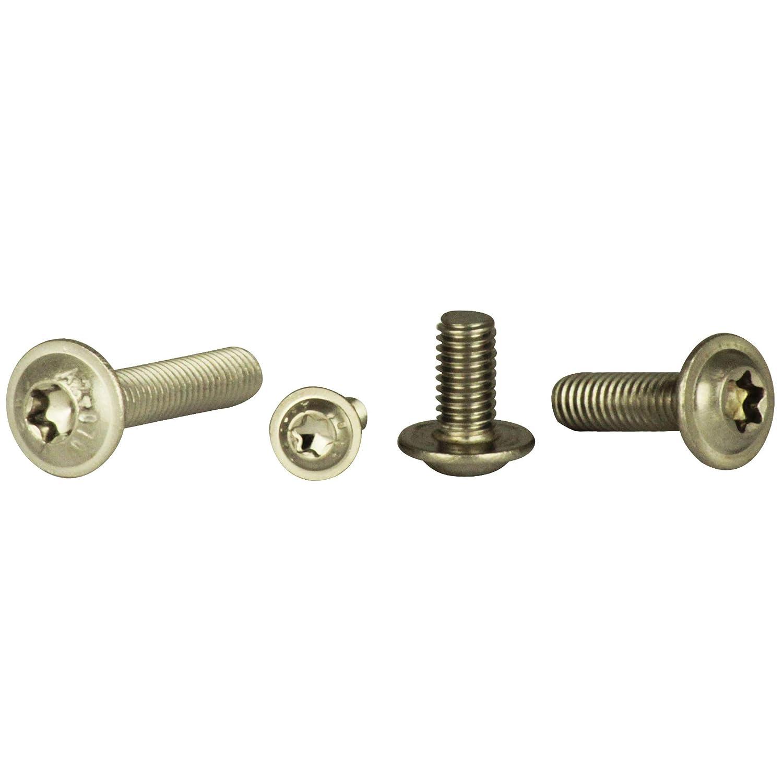 100 unidades, M3 x 3 hasta M12 x 120, con hex/ágono interior y brida, ISO 7380, acero inoxidable A2 Tornillo de cabeza lenticular