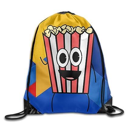 10675094c86b Amazon.com: Popcorn Decorations Drawstring Bag Travel Backpack Gym ...