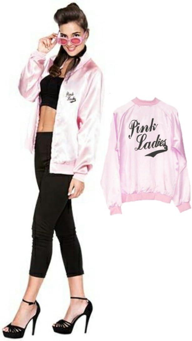 EUROCARNAVALES Disfraz de Pink Lady con Serigrafia - Mujer, S ...