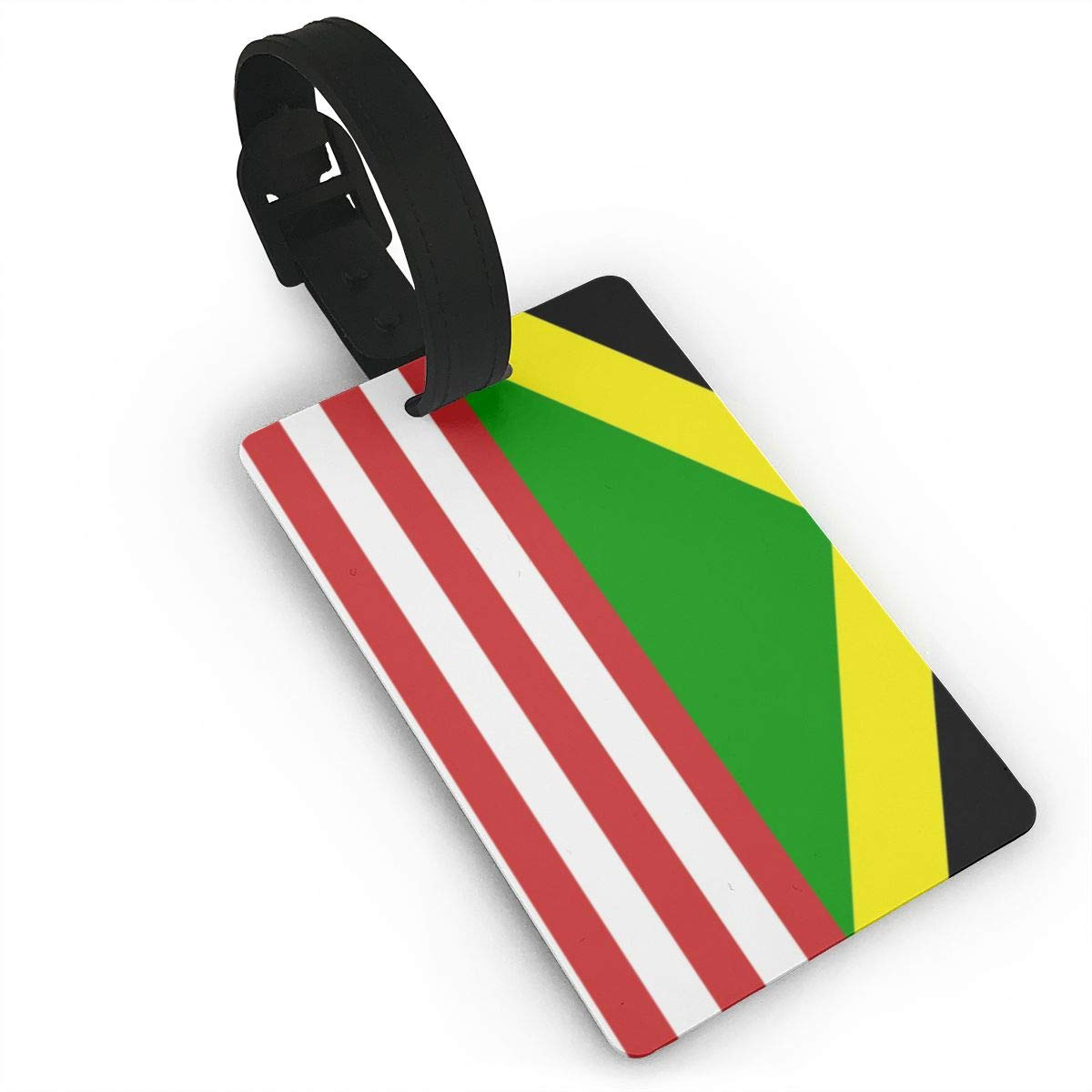 Sa Fiag Jamaican Flag Luggage Tags Bag Travel Labels For Baggage Suitcase