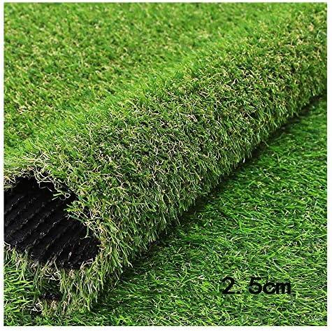 偽の芝生 の芝生 カーペット 高密度 秋の草 耐摩耗性 難燃剤 排水穴付き 庭園 パティオ、 草丈2.5cm GHHQQZ (Color : 2.5cm, Size : 2x8m)