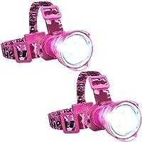 Pink CAMO LED Headlamp Flashlight - Zoomable Broadbeam Spotlight - for Caving Running Camping Hiking- Womens Hunting…