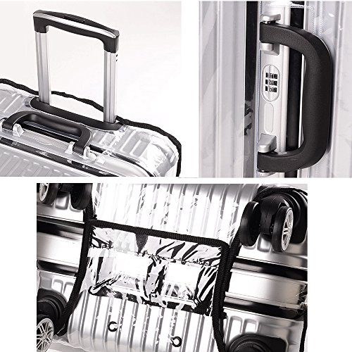 Yotako Clear PVC Suitcase Cover Protectors 20 24 28 30 Inch Luggage Cover for Wheeled Suitcase (20''(12.9.''L x 8.6''W x 18.5''H))