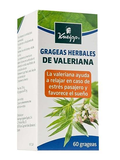 HARTMANN Kneipp grageas herbales de valeriana 60 grageas