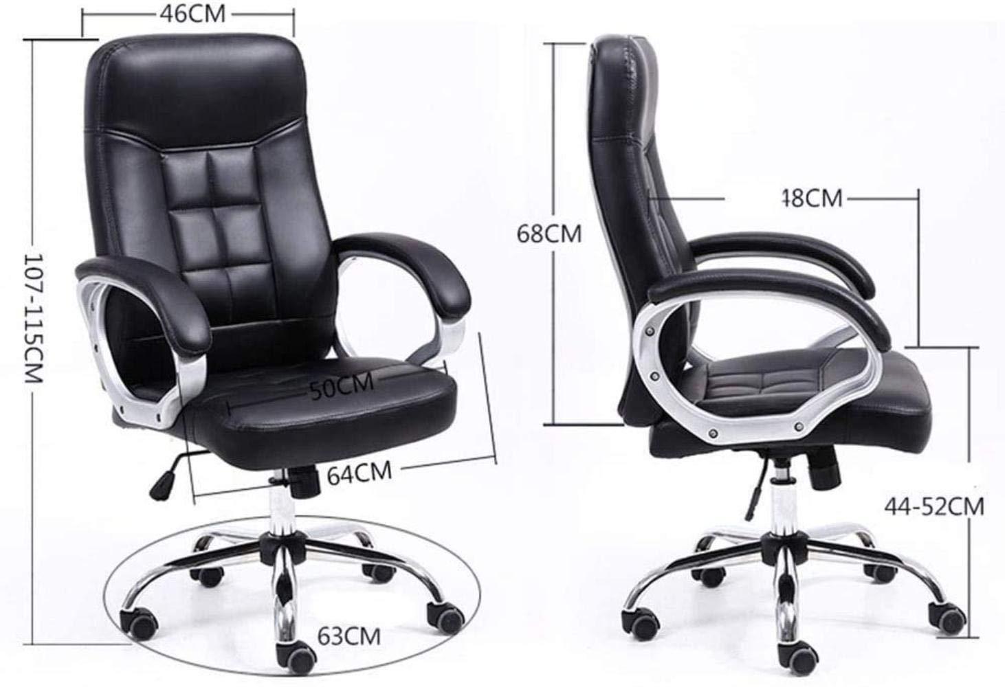 Skrivbordsstolar, kontorsstol spelstol hög rygg höjd justerbar stol uppgift svängbar verkställande dator stol knästol (färg: Brun) Brun